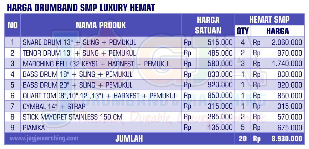 Harga Drumband SMP Hemat 2020 JM