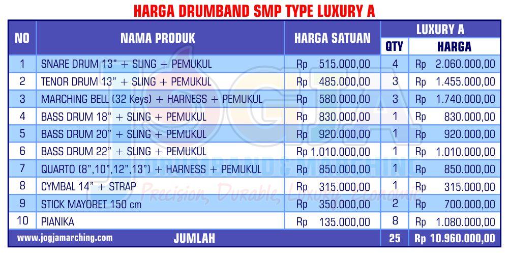 Harga JM Drumband Jan 2019 jd SMP A