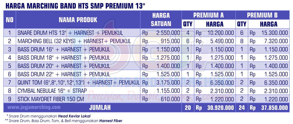 Harga Marching Band SMP Premium 2020 JM