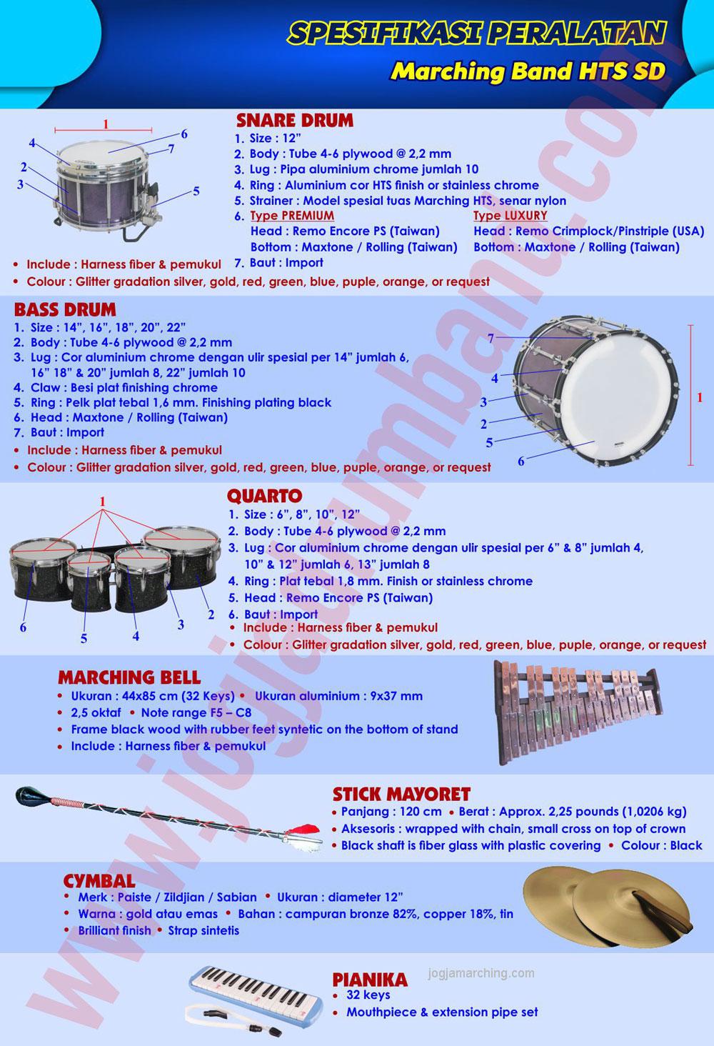 Spesifikasi Marching Band HTS SD