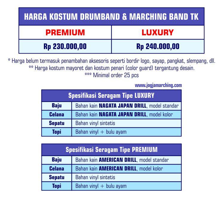 Harga Seragam JM Jan 2019 TK